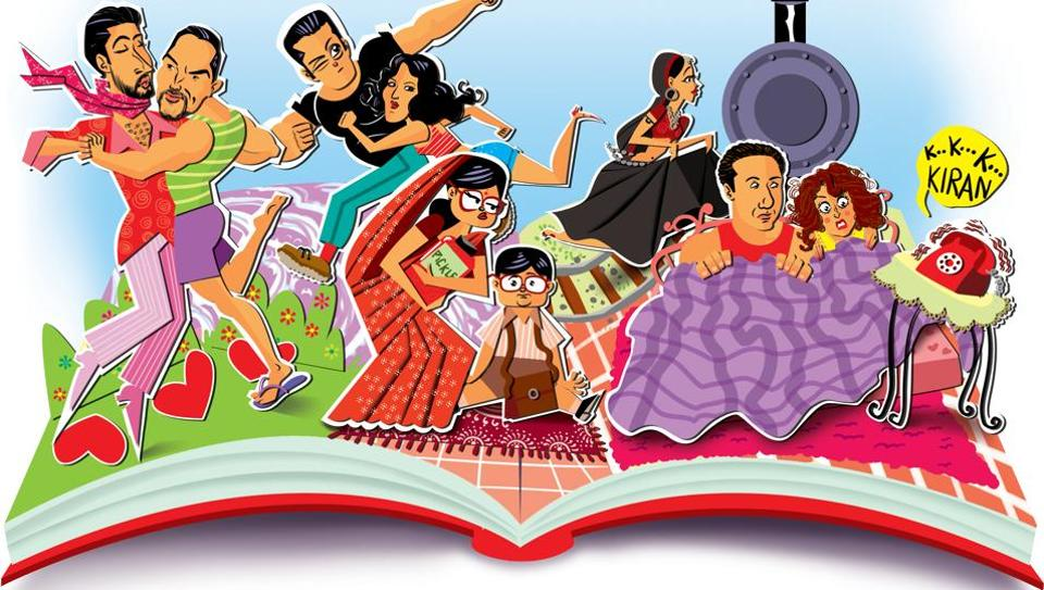 Things you can expect to see in Bollywood fan fiction: Dostana ending in a wedding, Sallu and Katrina on the run again, Bob Biswas's mom, a sequel to Darr, and the backstory of that girl on the train in 'Chaiyya chaiyya'.