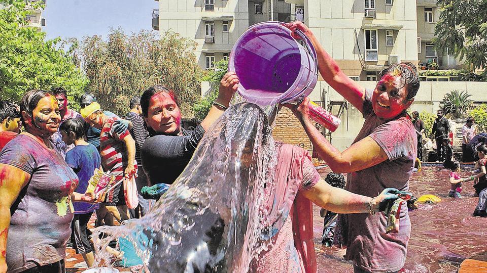 Gurgaon,Gurgaon Holi,MCG water for Holi