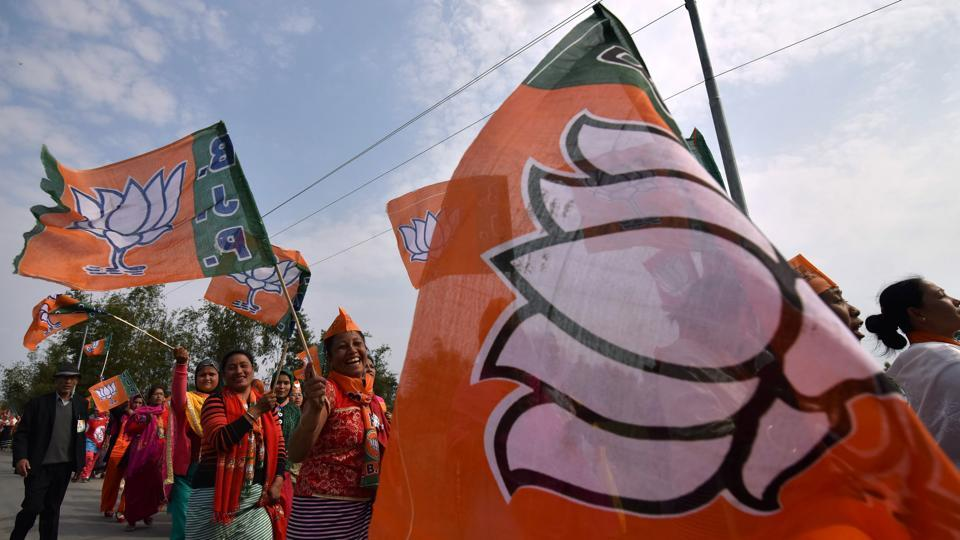 The BJP, which won 21 seats, hopes that its existing connections with the NPP will help secure its support for a saffron government in Manipur.