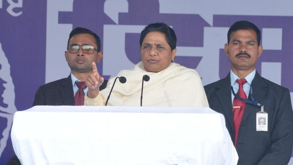 Bahujan Samat Party national president Mayawati addressing during a rally at Phagwara, January 30.  Dalit intellectual Chandra Bhan Prasad believes it is too early to write off the BSP.