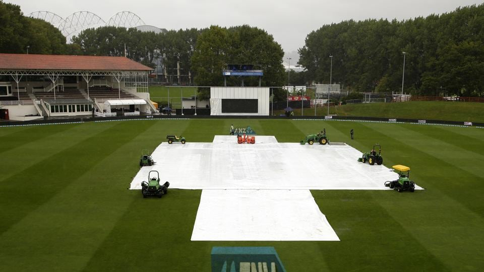 Rain washed out the entire final day of the first Test between New Zealand and South Africa in Dunedin.