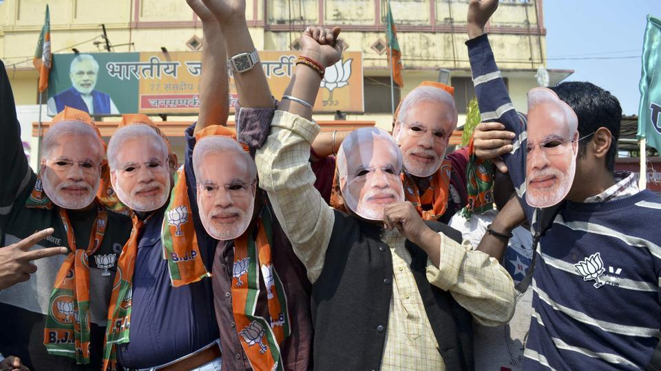International news outlets interpret the BJP's sweeping win as a whole-hearted endorsement of Modi and his policies.