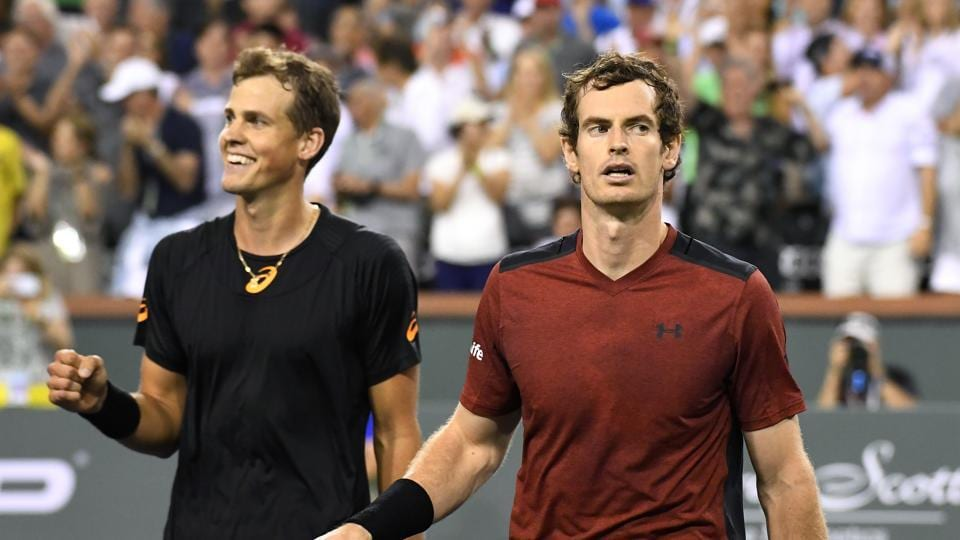 Andy Murray crashed out of the Indian Wells Masters tournament after he lost to Vasek Pospisil to continue his poor run in the tournament.
