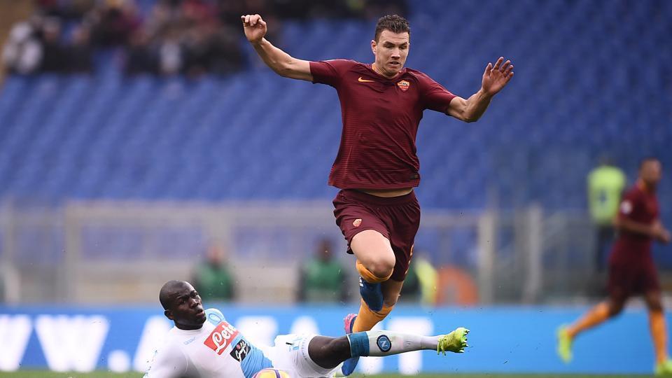 Edin Dzeko, ASRoma forward, is two behind Torino's Andrea Belotti in top goal-scorer's list.