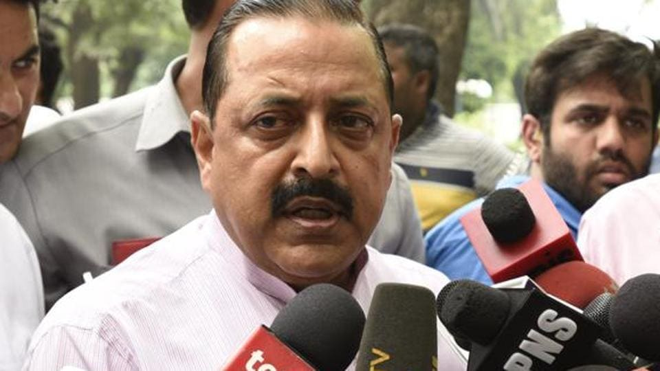 Union minister of state in the Prime Minister's Office Jitendra Singh.