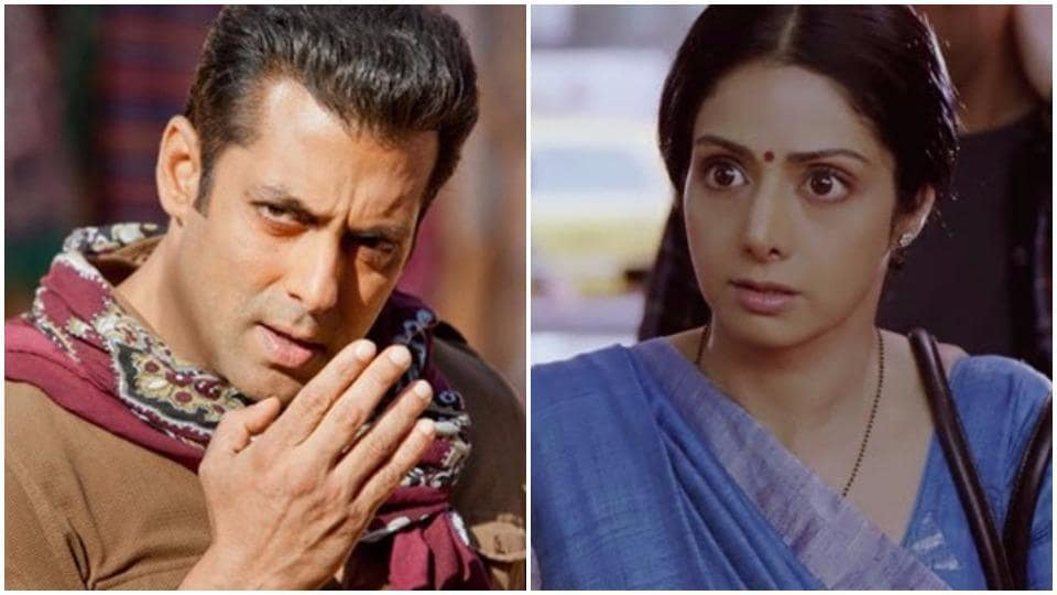 The first poster of Sridevi's forthcoming film Mom was unveiled at an awards function, and actor Salman Khan couldn't stop raving about the star.