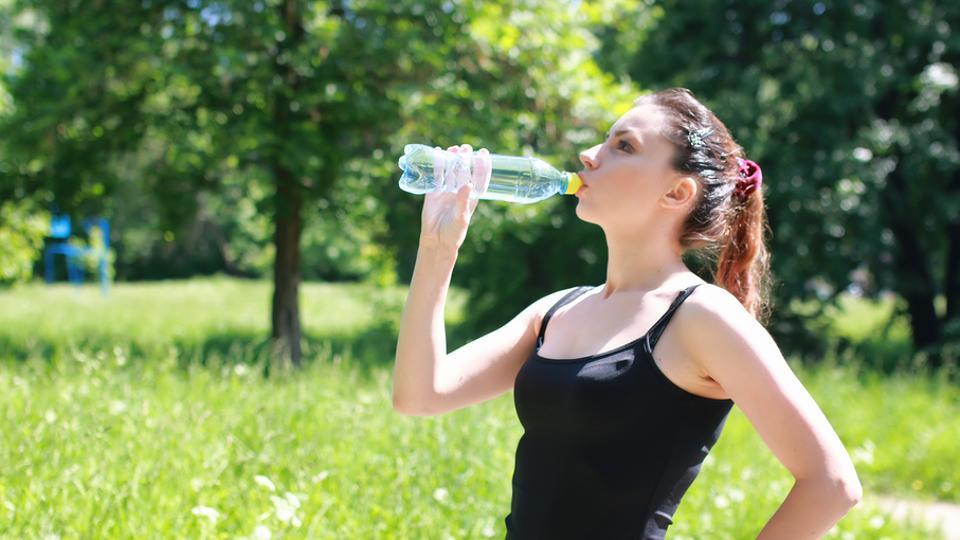 Drinking lots of water (1.5 litres  per day) is a good way to detox.