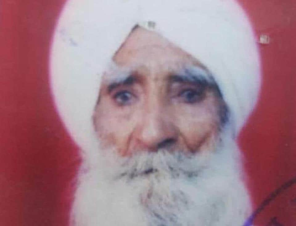 Victim Jagat Singh, 83, was working in the field alone when the pack of dogs attacked him unprovoked.