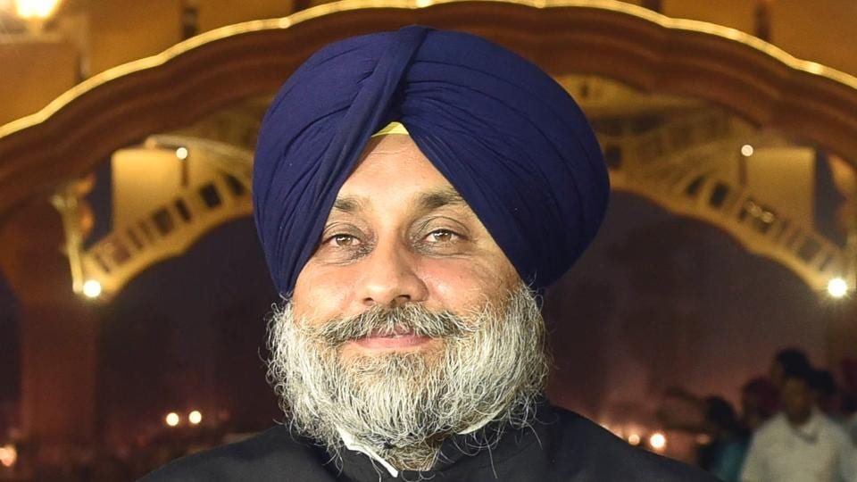 Outgoing deputy chief minister Sukhbir Singh Badal.
