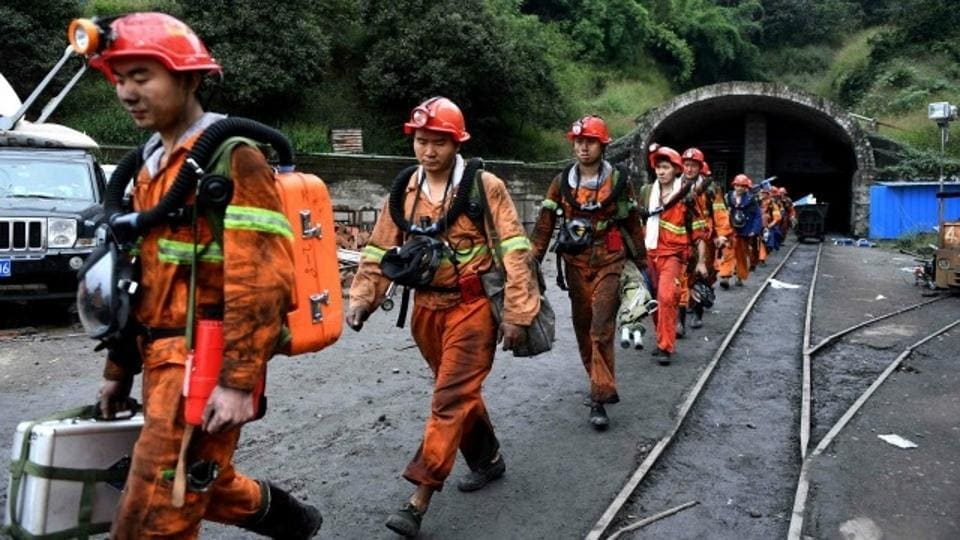 Seventeen Chinese coal miners were killed when a lift used to move workers fell down a shaft, state media reported.