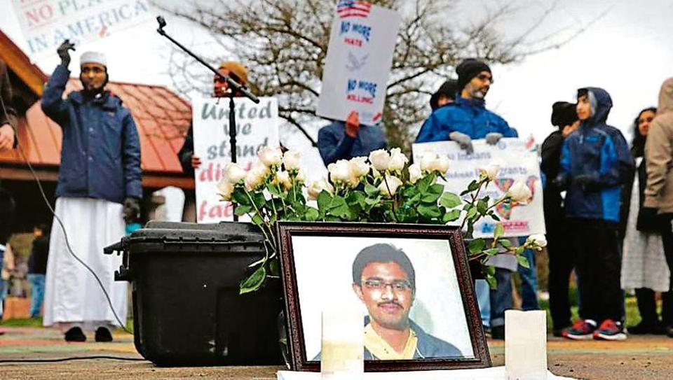 A peace vigil held in Washington on March 5 in the memory of Srinivas Kuchibhotla, the 32-year-old Indian engineer killed at a bar in Kansas