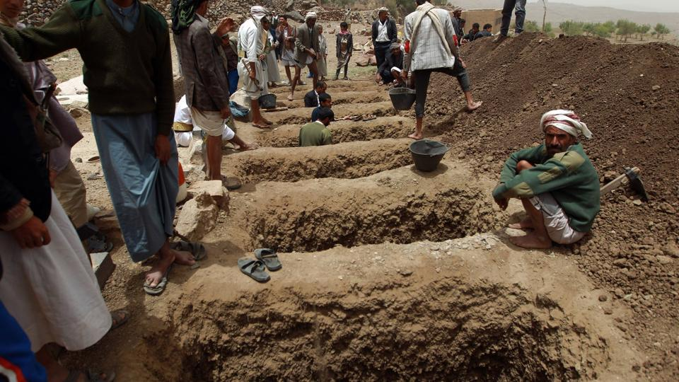 The conflict in Yemen has killed nearly 7,700 people, including at least 1,564 children, since a Saudi-led coalition intervened on the government's side two years ago.