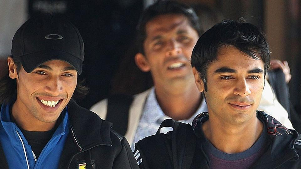 Salman Butt (right), Mohammad Amir (left) and Mohammad Asif (centre) were banned for spot-fixing furing a Pakistan-England match.