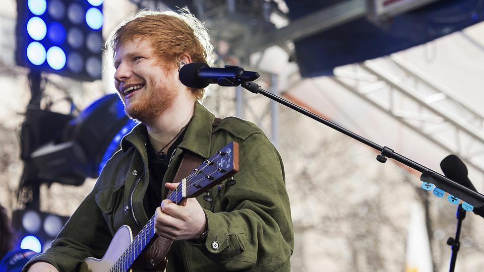 Ed Sheeran performs on NBC's Today show on Wednesday, March 8 in New York.