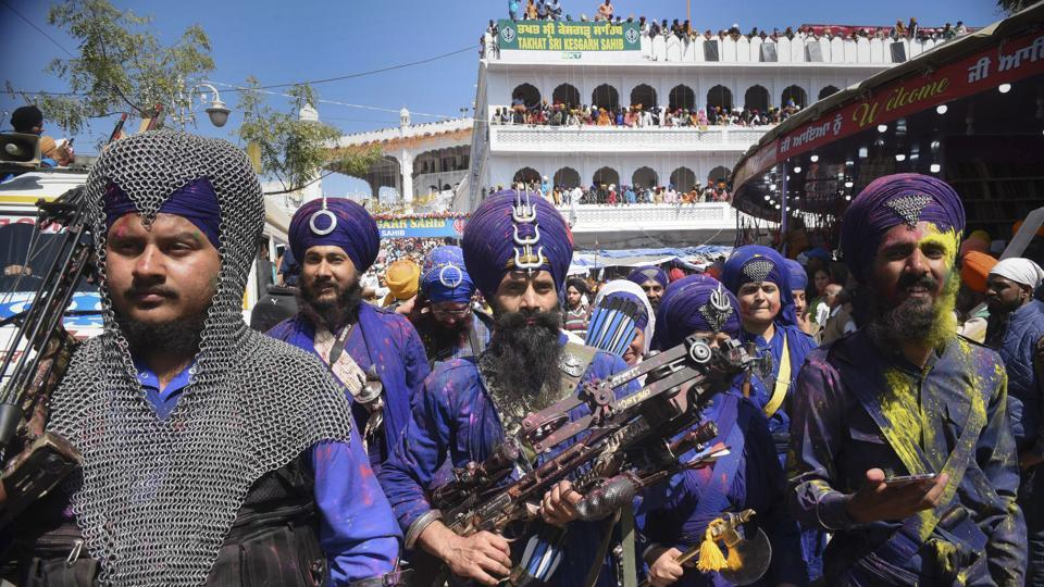 Guru Gobind Singh, the last of the 10 Sikh gurus, had created this as an occasion for Sikhs to show off their martial arts skills and host mock battles. (Sanjeev Sharma/HT Photo)