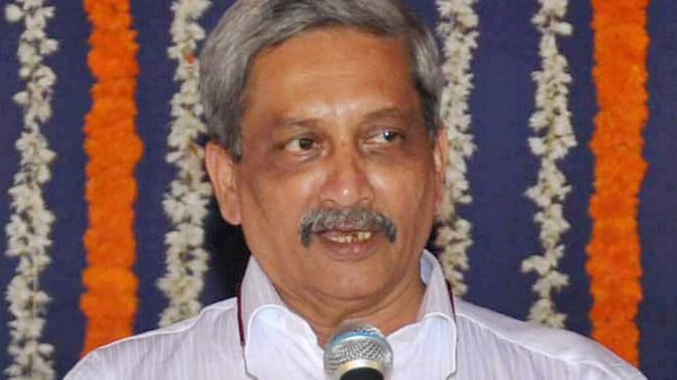 Goa's new Chief Minister Manohar Parrikar during the swearing-in ceremony, in Panaji.