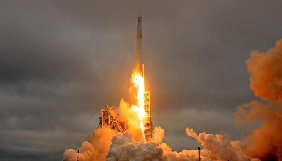 SpaceX delayed the launch of a rocket set to carry a commercial communications satellite into orbit, because of high winds at its Florida launch site
