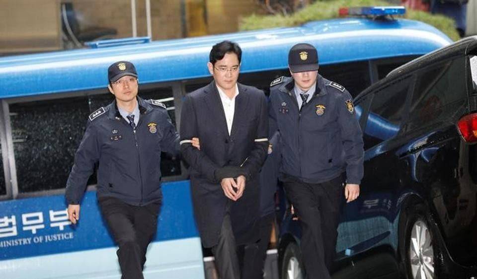 The head of South Korea's Samsung Group, Jay Y. Lee, may be languishing in a jail cell but he is allowed plenty of visitors, which may allow him to play a key role in corporate decisions even if he isn't running the conglomerate like he did before.