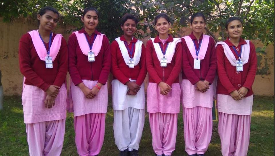 (From left to right) Sheetal, Muskan, Isha,Vidhi,Rinku and Manisha.