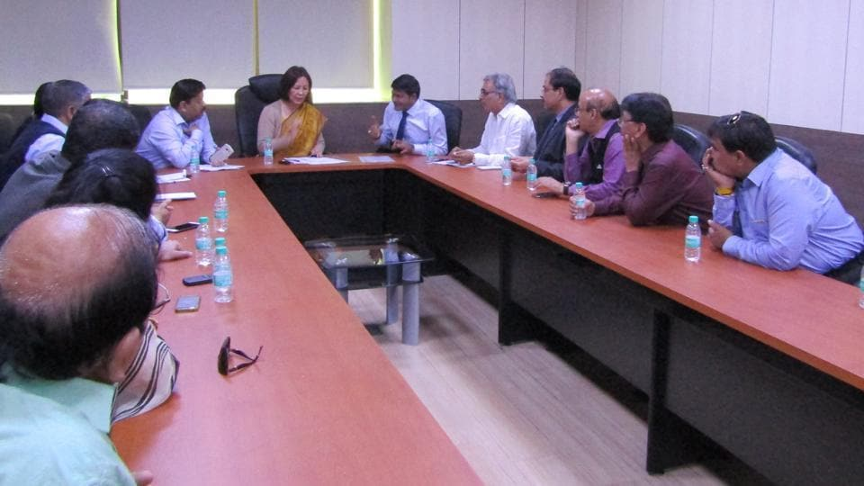 Representatives of the Noida Entrepreneurs' Assoication met T Tonsing Prasad, principal commissioner of Income Tax, Noida.