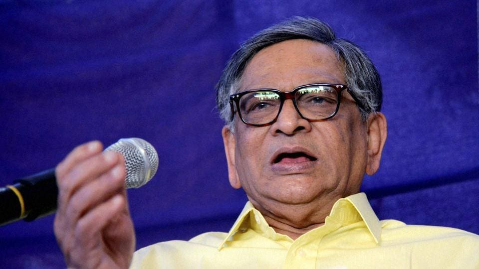 Former external affairs minister S.M. Krishna, who was supposed to meet the Bharatiya Janata Party (BJP) leadership here this week in order to formally join the party, on Wednesday headed back to Bengaluru as his sister has passed away.