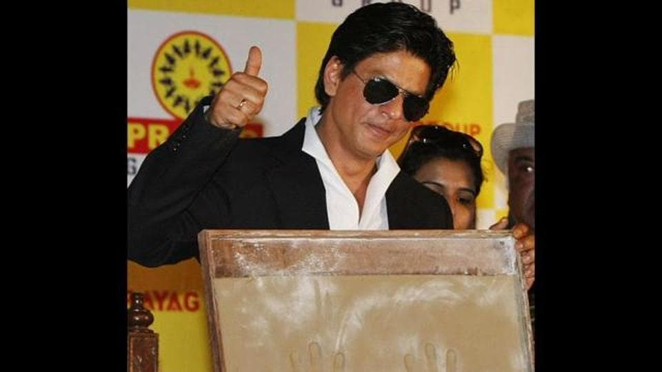 File picture of Shah Rukh Khan at the inaugural programme of Prayag Film City in West Midnapore district in 2012.