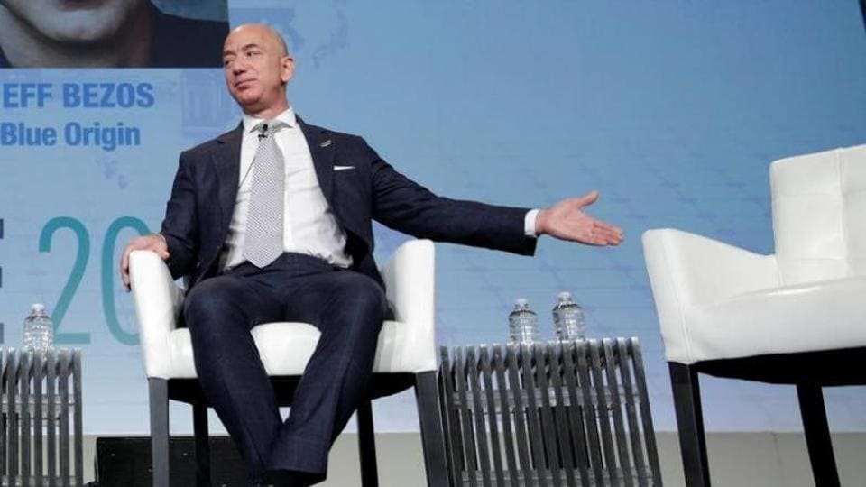 Jeff Bezos, founder of Blue Origin and CEO of Amazon, speaks about the future plans of Blue Origin at Access Intelligence's SATELLITE 2017 conference in Washington
