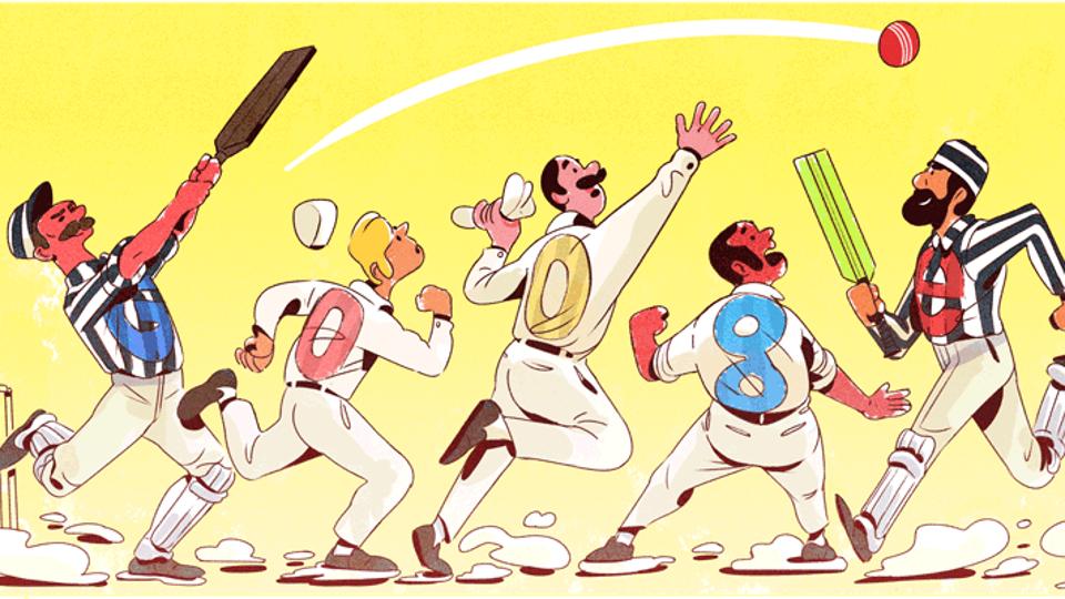 Google Doodle,Test cricket,Test cricket 140 years