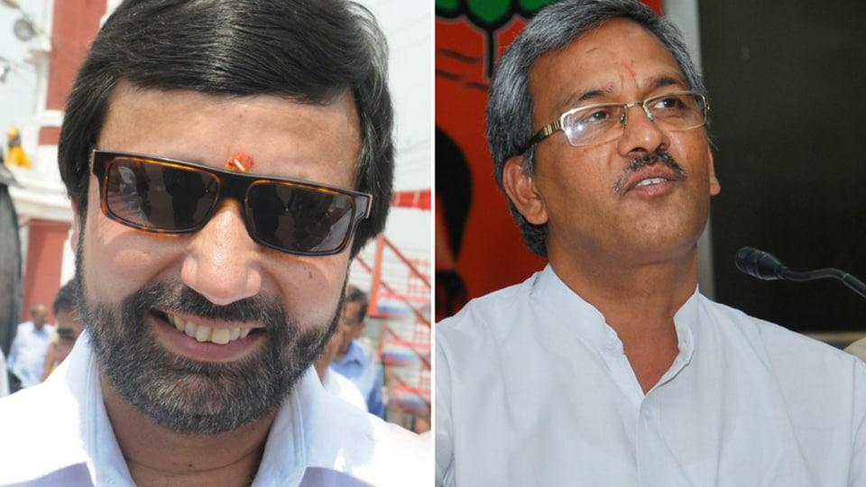 Combination image of Prakash Pant and Trivbendra Singh Rawat.