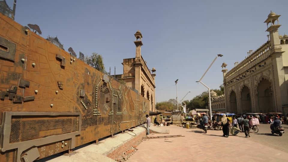 The map will highlight structures like 'Tilewali Masjid' and 'Jama Masjid'.