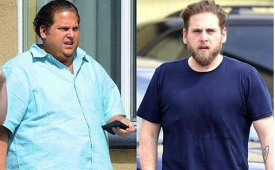 Jonah Hill a few months ago (L) and Jonah Hill now.