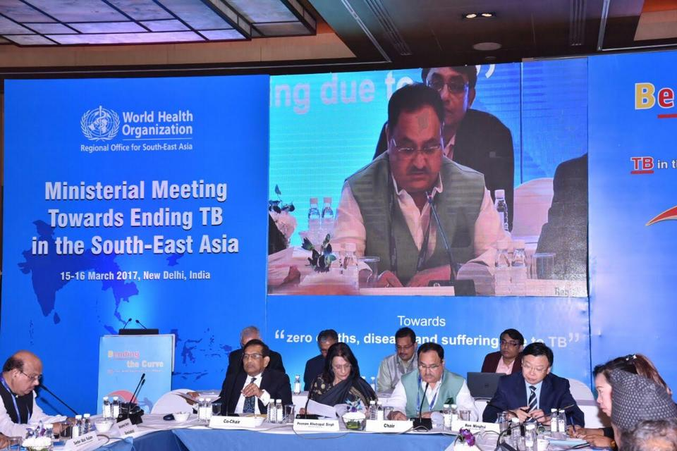 Union health minister JPNadda addresses ministerial meeting towards ending TB in the South-east Asia Region