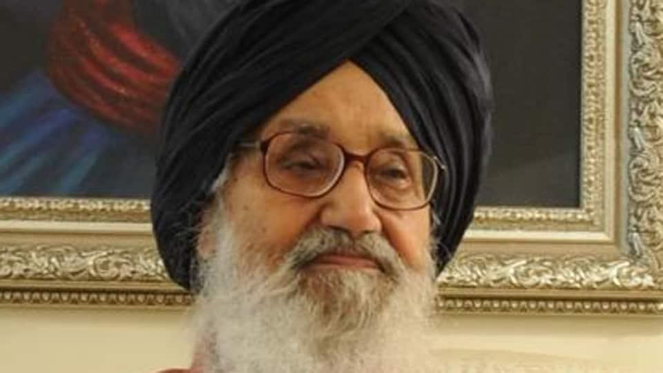 Punjab's outgoing chief minister Parkash Singh Badal.