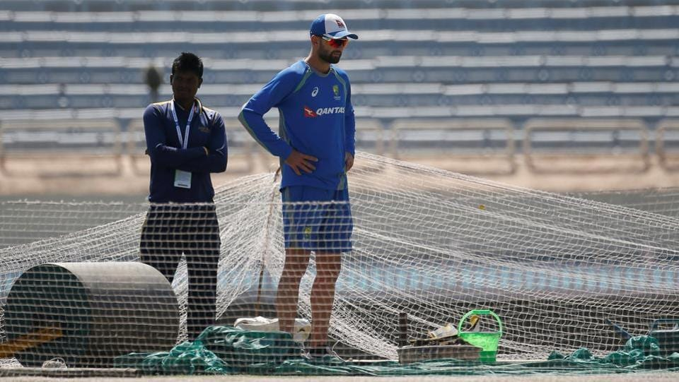 The favourite 'workout' for Australia cricket team was staring longingly at the Ranchi Pitch on Wednesday. Nathan Lyon, their spin spearhead would be hoping the wicket offers him turn like it did in the first two matches. (REUTERS)