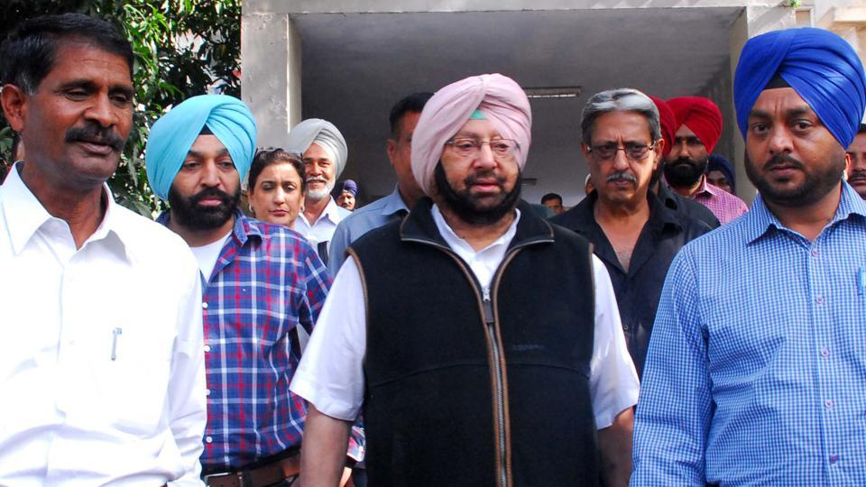 Captain Amrinder Singh at PGIMER, Chandigarh.