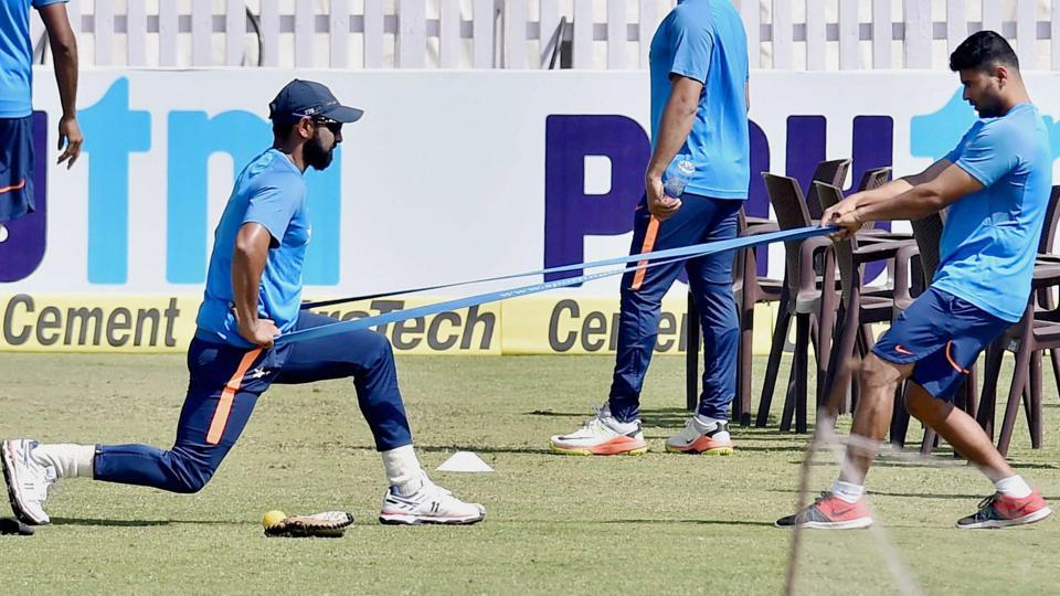 India cricket team pacer Mohammed Shami had an extended training session in Ranchi on Wednesday, perhaps an indicator that he might have a role to play in the third Test vs Australia cricket team.  (PTI)