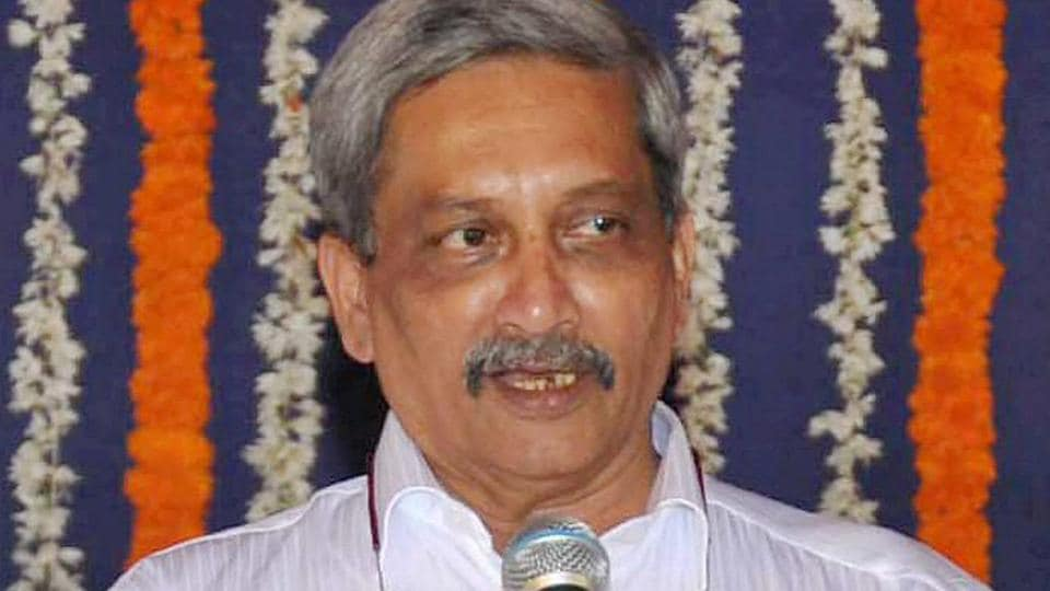 Goa's new chief minister Manohar Parrikar during his swearing-in ceremony in Panaji on Tuesday.