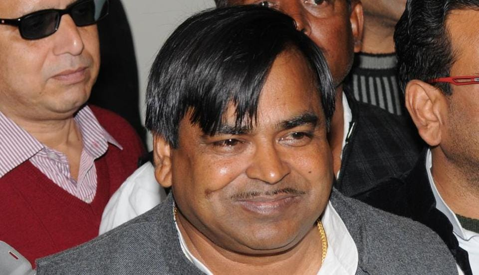 File photo of former UP minister Gayatri Prajapati who was arrested in Lucknow on Wednesday on charges of gang rape