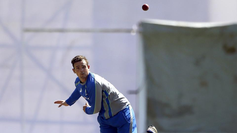 Steve O'Keefe, hero for Australia cricket team in the first Test, will be hoping to spin his magic in Ranchi. He was seen trying heavy-spinning tossed up deliveries during the nets session on Wednesday.  (AP)