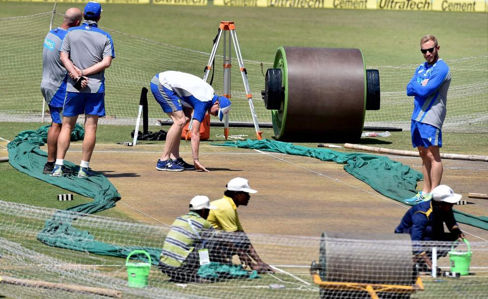 Australia captain team Steve Smith had a long inspection session of the Ranchi pitch too, before heading off to knock the ball around in the nets. With the pitches of the first two matches creating problems for batsmen from both sides, the hope is that the third Test wicket will last five days. (PTI)
