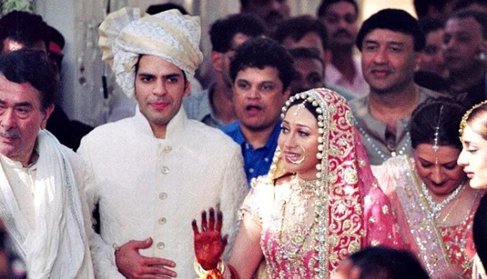 Karisma and Sanjay during their wedding in 2003.