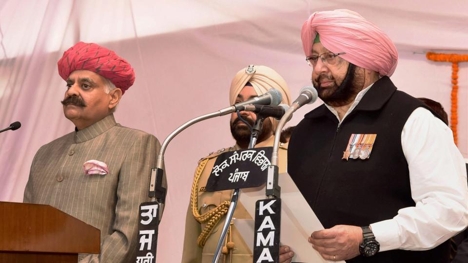 Captain Amarinder Singh,CM Amarinder Singh,Amarinder sworn in