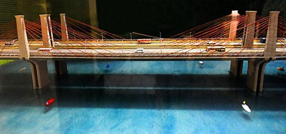A dummy model of Barapullah bridge.