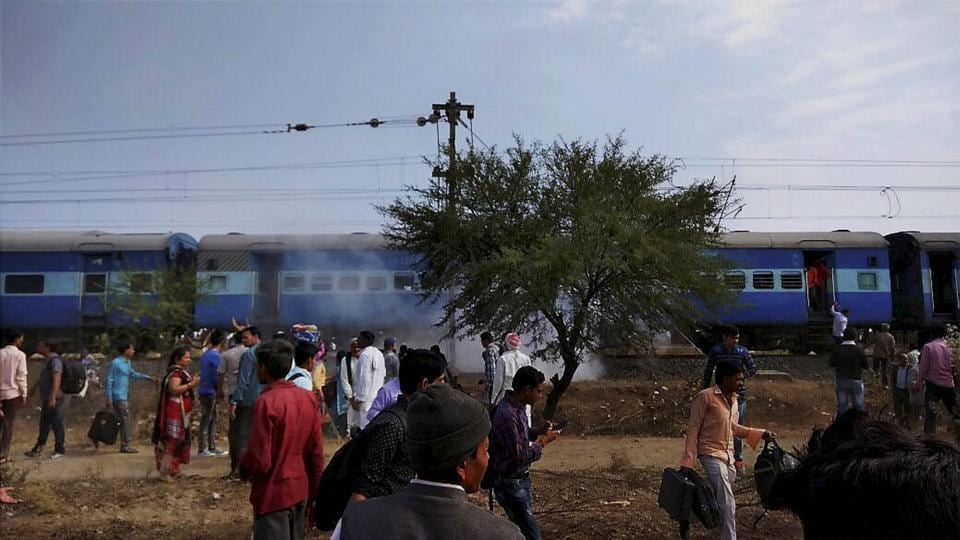 A blast in the Bhopal-Ujjain passenger train near Jabdi station in Shajapur district injured at least ten people.
