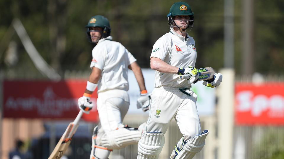Australia's captain Steve Smith (R) and teammate Glenn Maxwell produced the best partnership of the India vs Australia Test series on Day 1 of the Ranchi Test on Thursday. Live streaming of Day 2 on Friday will be available online