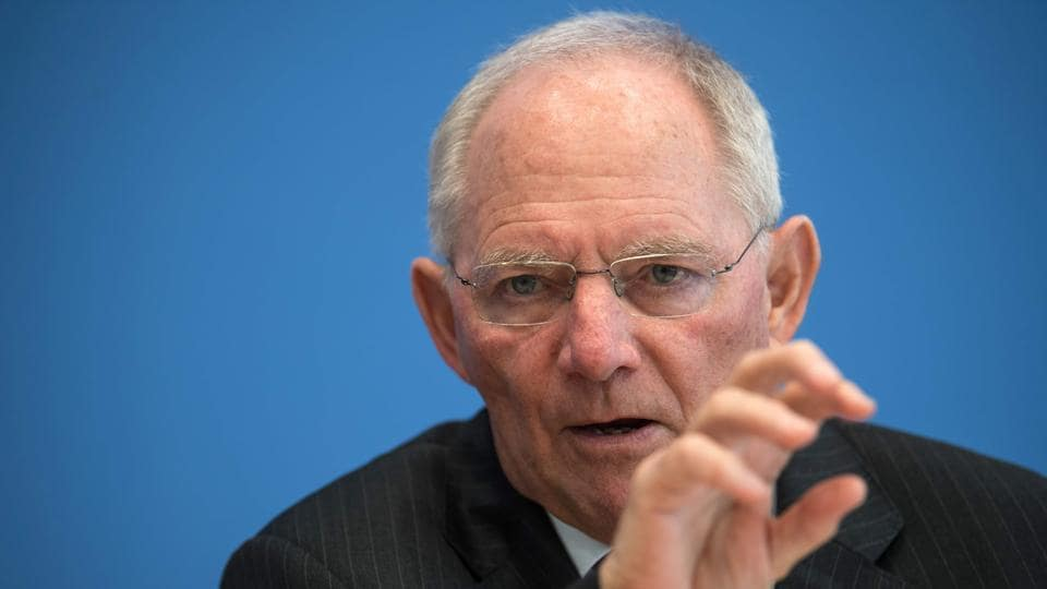 German Finance Minister Wolfgang Schaeuble became extremely unpopular in Greece during the country's crippling debt crisis as he was seen as unyielding in imposing austerity on Athens in exchange for financial aid.