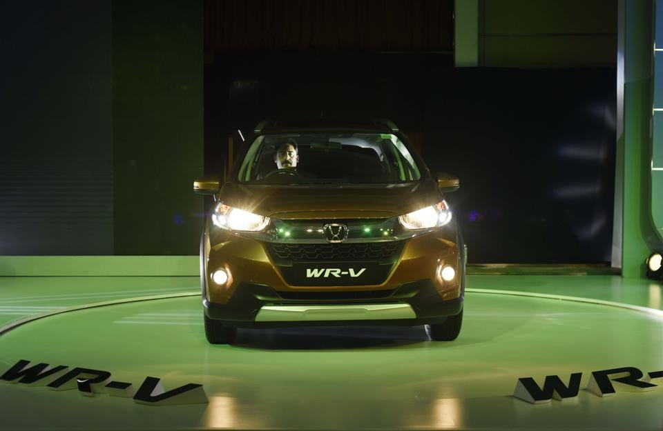 Japanese auto major Honda on Thursday globally launched compact sports utility vehicle WR-V in the Indian market with prices tagged between Rs 7.75 lakh and Rs 9.99 lakh. (Vipin Kumar/HT PHOTO)