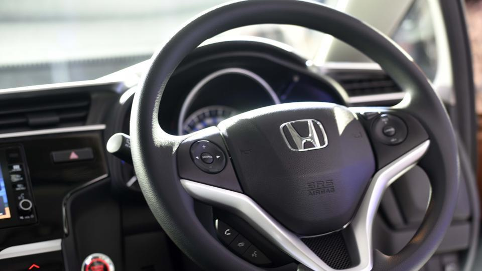 The Honda WRV gets a good list of features starting with standard ABS and airbags on all variants.  (Vipin Kumar/HT PHOTO)