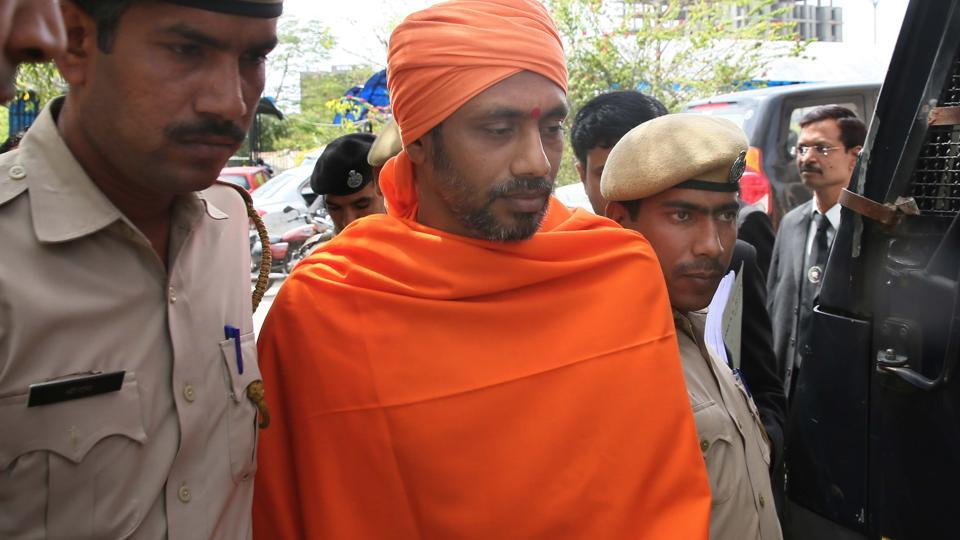 Bhavesh Patel, who has been convicted in the Ajmer blast case, at the NIAcourt in Jaipur on Thursday.