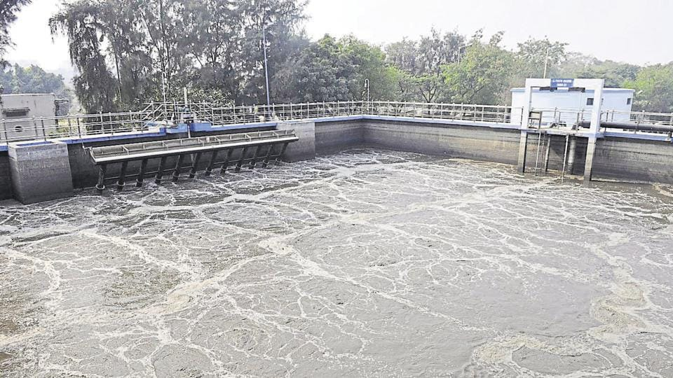File photo of a sewage treatment plant in Noida , Uttar Pradesh.